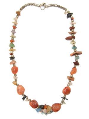 Колье из натуральных камней Indira. Цвет: красный