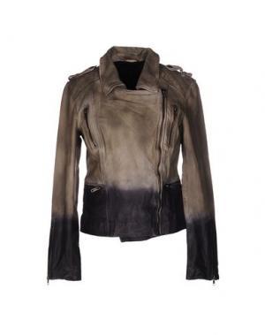 Куртка ENES. Цвет: зеленый-милитари