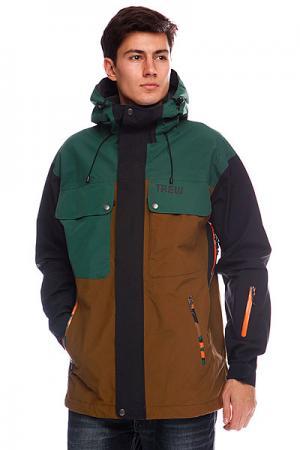 Куртка  Bellows Camo Trew. Цвет: зеленый,коричневый,камуфляжный