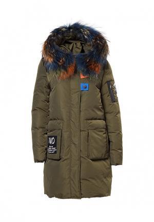 Куртка утепленная Grafinia. Цвет: хаки