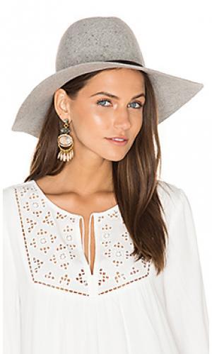 Шляпа с широкими полями taylor Hat Attack. Цвет: серый