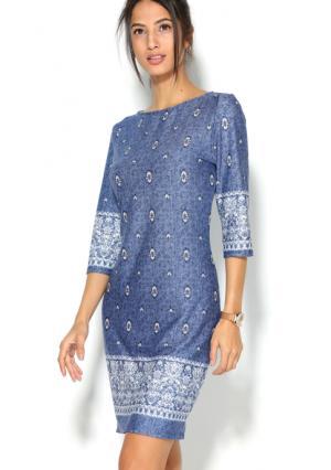Платье Venca. Цвет: синий