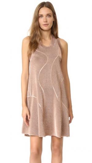Металлизированное трикотажное платье M Missoni. Цвет: бронзовый