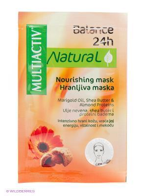 Питательная маска MULTIACTIV NATURAL  Balance 24h. Цвет: оранжевый