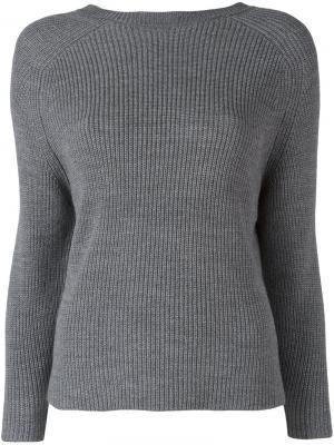 Джемпер в рубчик Federica Tosi. Цвет: серый