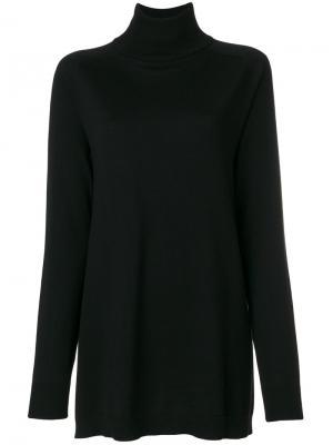 Классический свитер с отворотом  IM Isola Marras I'M. Цвет: чёрный