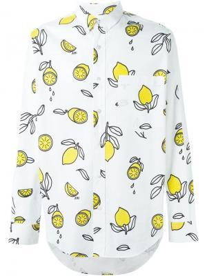 Рубашка с принтом Ami Alexandre Mattiussi. Цвет: белый