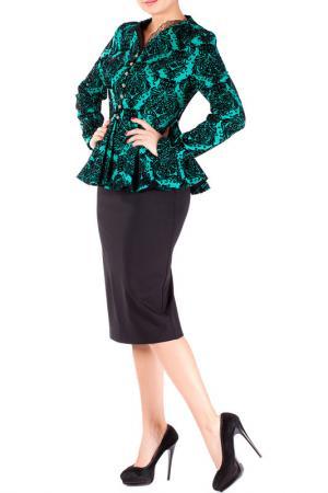 Комплект с юбкой Mannon. Цвет: зеленый