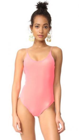 Barbie овальным вырезом сплошной купальник Lolli. Цвет: папайя
