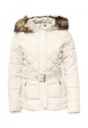 Куртка утепленная Jennyfer. Цвет: белый