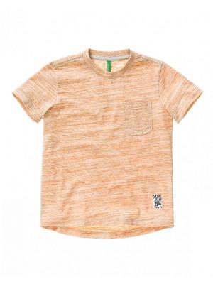Футболка United Colors of Benetton. Цвет: персиковый, кремовый, бледно-розовый