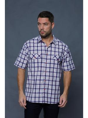 Рубашка John Jeniford. Цвет: белый, синий