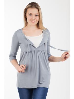 Блуза Прованс с секретом кормления Ням-Ням. Цвет: серый, темно-серый