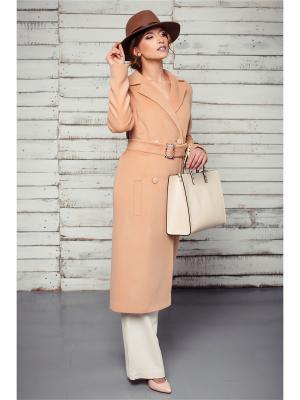 Пальто Exalta. Цвет: персиковый