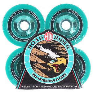 Колеса для скейтборда лонгборда  Shred Mags Teal 80A 73 mm Road Rider. Цвет: зеленый