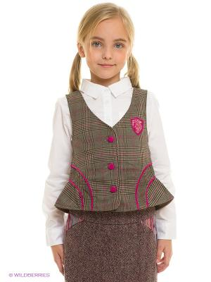 Жилет English Plaid Vest w/ Corduroy Detail Fore!! Axel and Hudson. Цвет: коричневый, фуксия