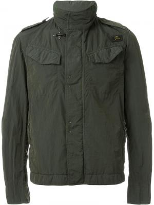 Повседневная куртка Fay. Цвет: зелёный