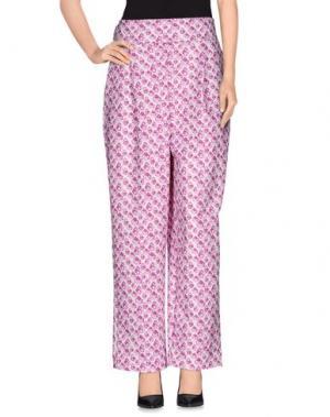 Повседневные брюки AGATHA RUIZ DE LA PRADA. Цвет: розовато-лиловый