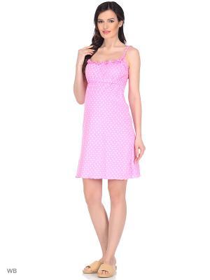 Ночная сорочка Hunny Mammy. Цвет: розовый, белый