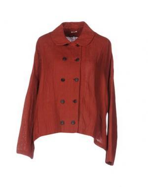 Пиджак A.B APUNTOB. Цвет: ржаво-коричневый