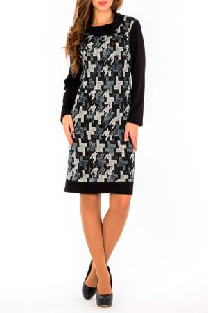 Платье S&A style. Цвет: черно-серый