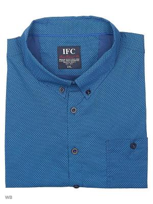 Рубашка IFC. Цвет: темно-синий, лазурный