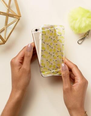 SIGNATURE Чехол для iPhone 6 с принтом лимонов. Цвет: желтый