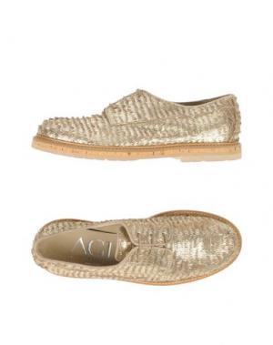 Обувь на шнурках AGL ATTILIO GIUSTI LEOMBRUNI. Цвет: платиновый