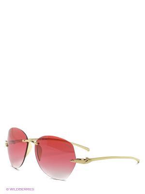 Солнцезащитные очки Funky Fish. Цвет: золотистый, красный