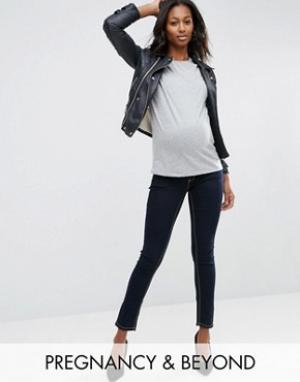 Bandia Джинсы скинни для беременных со съемной вставкой живота Mat. Цвет: синий