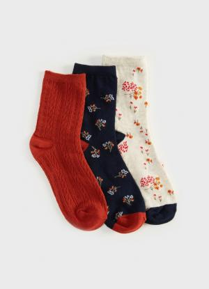 Комплект из 3 пар носков OSTIN. Цвет: темно-синий
