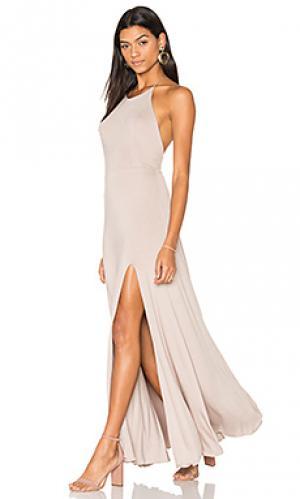 Платье nikki De Lacy. Цвет: серо-коричневый