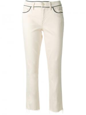 Прямые джинсы Tory Burch. Цвет: телесный