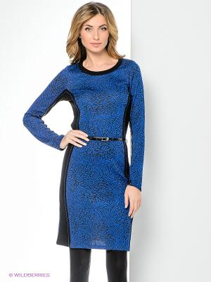 Платье Hegler. Цвет: синий, черный