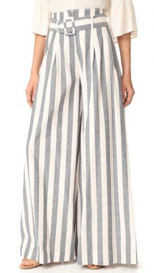 Широкие брюки N/ Santorini в полоску Nicholas. Цвет: темно-синий/светло-бежевый