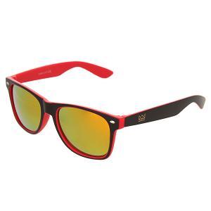 Очки  Sunglasses Black/Red Nomad. Цвет: черный,красный