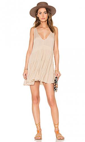 Мини платье havana Acacia Swimwear. Цвет: беж