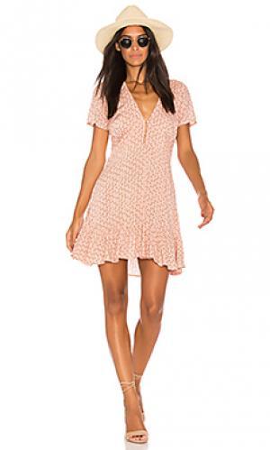 Свободное платье bella AUGUSTE. Цвет: розовый