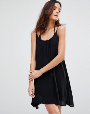 Echo Пляжное платье на бретельках. Цвет: черный