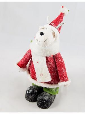 Новогодняя фигурка Лось 27см (уп.1/8/32шт.) Русские подарки. Цвет: красный, белый, зеленый