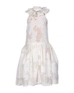 Платье до колена A.W.A.K.E.. Цвет: белый