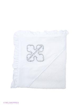 Полотенце-накидка Ангел мой. Цвет: серебристый, белый