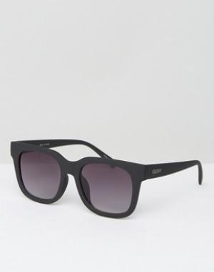 Quay Australia Черные квадратные солнцезащитные очки. Цвет: черный
