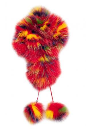 Головной убор из меха лисы и енота 139009 Igor Gulyaev. Цвет: разноцветный