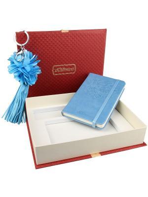 77004 Набор подарочный, Записная книжка+брелок Venuse. Цвет: голубой