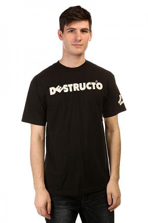 Футболка  Logo Black Destructo. Цвет: черный