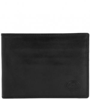 Черное портмоне из натуральной кожи The Bridge. Цвет: черный
