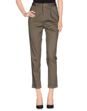 Повседневные брюки NOA. Цвет: зеленый-милитари