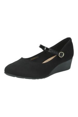 Туфли на ремешке Beira Rio. Цвет: черный