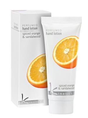 Увлажняющий лосьон для рук и тела 40 мл. ( Пряный апельсин Сандаловое дерево) Kinetics. Цвет: белый